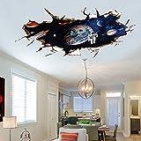 AUVS 3D Amovibles Briser Le Mur Autocollant Vinyle Stickers Muraux /mur Peintures, Art...