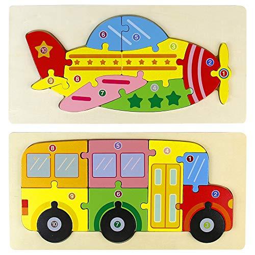 Juguetes Niños Juegos de Madera para Niños Puzzle Montessori Juegos Educativos para Bebes Regalo Niñas Niña Niños 3 4 5 6 Años