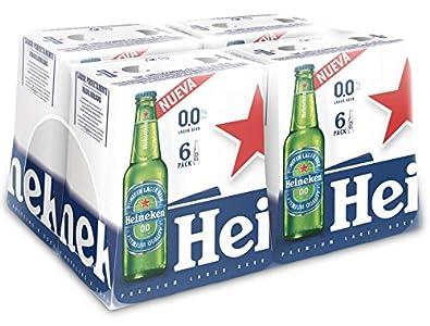 Heineken 00 Cerveza - 4 Packs de 6 Botellas x 250 ml - Total: 6 L