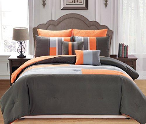 Duck River Textile Desiree Comforter Set, King, Orange