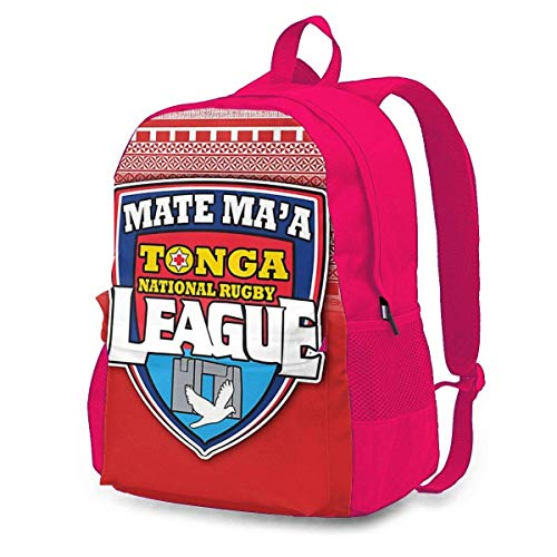 Mate Ma'a Tonga Adult Klassischer Rucksack Outdoor Freizeitrucksack Studententasche Pink