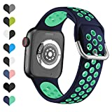 YPSNH Compatibile per Cinturino Apple Watch 38mm 40mm 42mm 44mm Cinturino Sportivo di Ricambio...
