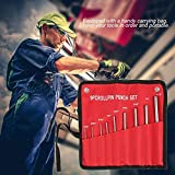 Uxsiya 9PCS Center Punch Set Roll Pin Punch Set Herramienta de extracción de Pasador Manual para automoción