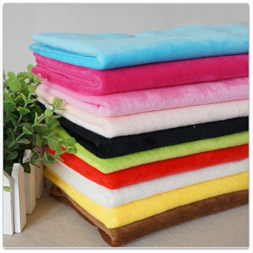 RayLineDo 10PCS 5050cm Solid Color Knitted Panne Velvet Fabric Anti Pill Fabric Patchwork Polyester Fleece Cloth for DIY Sewing Handmade Dolls