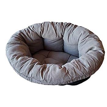 Coussin Ferplast pour Chien et Chats Coussin Sofa' 12 Coussin de Rechange Rembourré pour Corbeille en Plastique, Coton Doux Lavable, Réglable avec Cordon Élastique, 114 X 83 X H 37 cm Gris