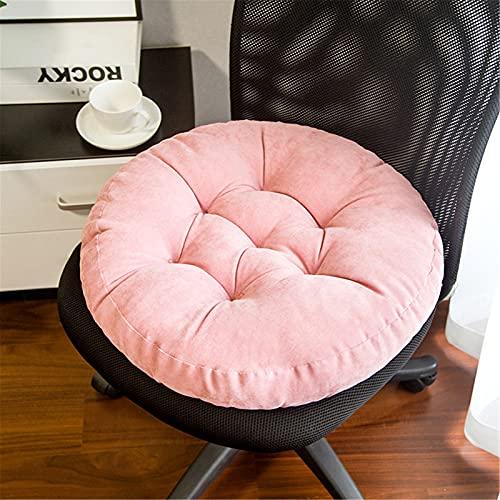 RAILONCH Tatami - Cuscino rotondo per sedia, spessore imbottito, per interni ed esterni, colore: rosa, 52 x 52 x 13 cm