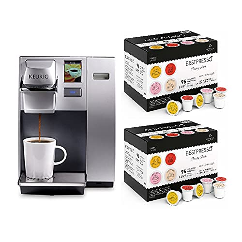 Keurig K155 Commerical Brewing System with K-Cup Variety Pack (192-Count) Bundle (3 Items)