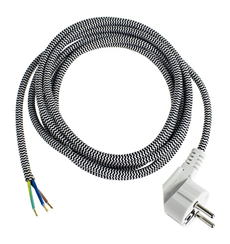 AS Schwabe 87202 - Cable de alimentación para plancha (3 m, IP20 en interiores), color negro