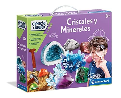 Clementoni-55349 - Cristales y Minerales - juego científico a partir de 8 años