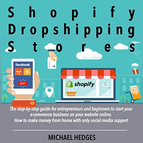 Shopify Dropshipping Stores audiobook cover art