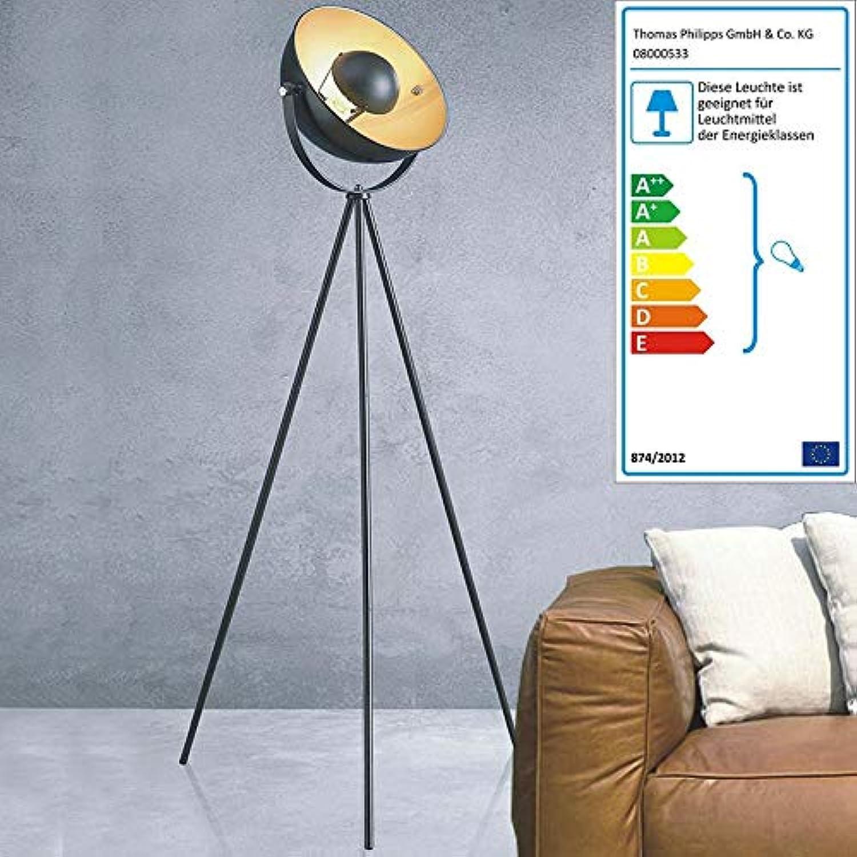 Buri Dreibein Stehlampe Retro Wohnzimmerlampe Bodenleuchte Standleuchte Standlampe