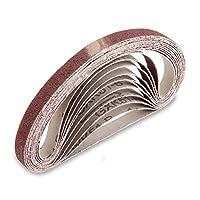 10個 サンドペーパー 研磨サンドベルト 研磨 ベルト サンダー 交換用 サンディング ベルト DIY 工具 道具 13mmx457mm (#120)