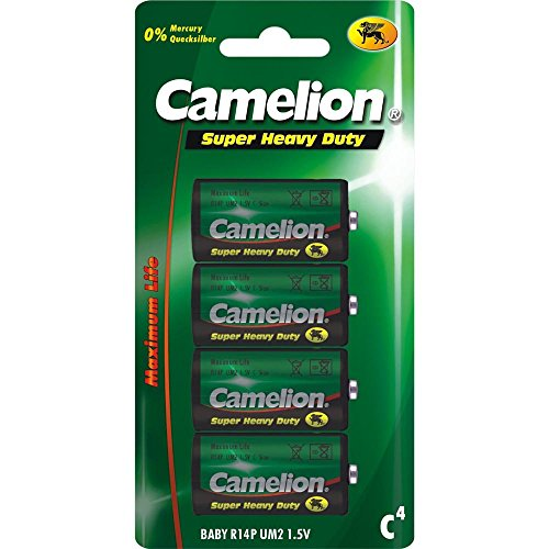 Camelion 10000414 Super Heavy Duty Batterien R14/ Baby/ 4er Pack