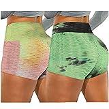 ayaso Short de sport court pour femme - Taille haute - Legging - Court - Short de sport pour femme - Short de yoga court - Short de sport pour femme - Vert - Taille L