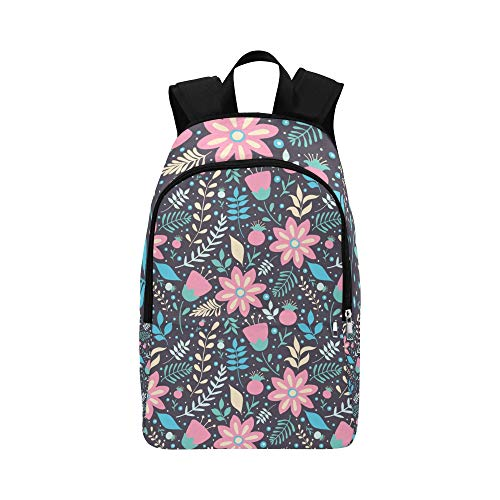 WSNWCY Best Hiking Bag Fashoin Decorative Flower Durable Water Resistant Classic Day Backpack for Men Daypack Organizer Travel Lunch Bag Waterproof Backpack