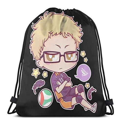 Tsukishima Kei Sport Bag Gym Sack Drawstring Backpack