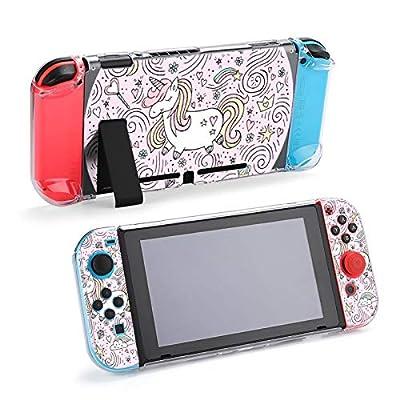 Lindo Estuche acoplable con Interruptor de Unicornio mágico - Carcasa Protectora acoplable para Nintendo Switch y Controladores Joy-con