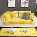überzug für sofa,sofabezug,sofa auflage,Kurze Plüsch-Sofa-Schutzhülle,gesteppte Couch-Schonbezüge,moderne Sofabezüge,dicke rutschfeste Sofahülle für den Frühling,Herbst & Winter-Gelb_70 * 70 cm