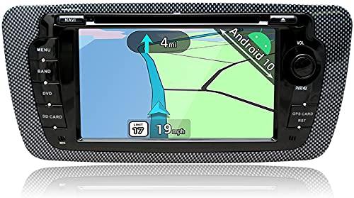 YUNTX Android 10 2 Din Autoradio per Seat Ibiza 6J/6JN(2008-2013) - 2GB+32GB - Telecamera Posteriore Gratuita - Supporto DAB / Controllo del Volante / Bluetooth 5.0 / CarPlay / Mirrorlink / USB