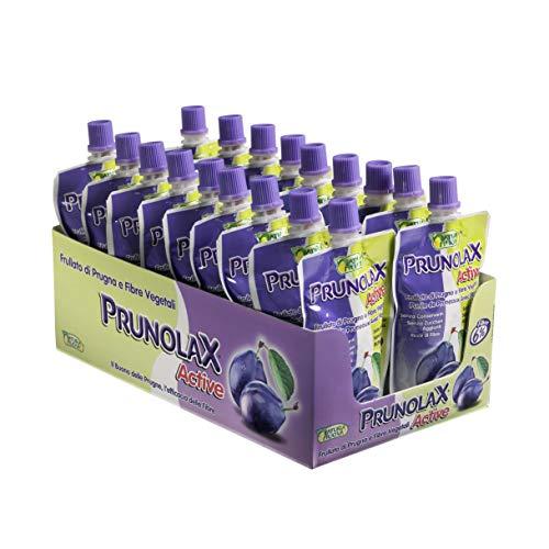 PRUNOLAX ACTIVE Frullato di Prugna e Fibre Vegetali, Confezione da 18 x 100 g