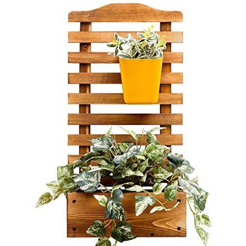 Madera Planta plantador con Patas Cama levantada con Enrejado para jardín o Patio (60 * 30 * 16 cm)