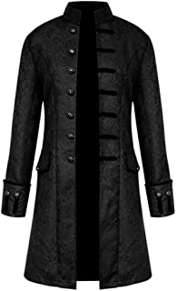 Nobility Baby Mens Medieval Steampunk Stand Collar Coat