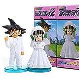 Nobranded Anime Dragon Ball Z Son Goku y Chichi Boda PVC Figuras de acción Juguetes muñecas 10cm Juego de 2