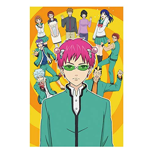 FRIUSATE The Disastrous Life of Saiki K. Poster Anime Characters Silk Cloth Poster for Home Decor Fans Gifts(S-2030cm)