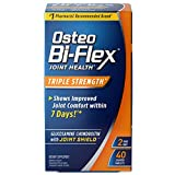 Glucosamine Chondroitin, Triple Strength by Osteo Bi-Flex w/ Vitamin C, Joint Health Supplements with Immune Support*, Gluten Free, 40 Coated Tablets