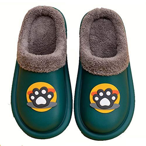 YANYUN Zapatillas de algodón, Garra Linda de Gato Baotou más Zapatillas de...