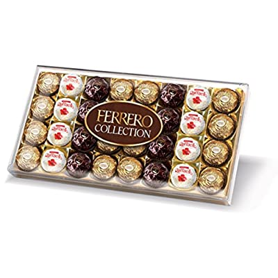 ferrero collection chocolate gift set, box of 32 pieces Ferrero Collection Chocolate Gift Set, Assorted Dark, Milk, Chocolate and Coconut and Almond, Box of 32 Pieces 51KEaH5lq0L