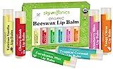USDA Organic Lip Balm by Sky Organics – 6 Pack Assorted Flavors –...