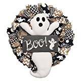 Guirnalda de decoración de Halloween, guirnalda de fantasmas, decoración de puerta de entrada de Boo, guirnalda de botín de Halloween, guirnalda de otoño, decoración de Halloween de cosecha de otoños