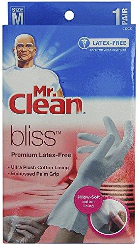 Mr. Clean Premium Latex-Free Gloves Bliss Medium Size (Pack of 2 Pairs)
