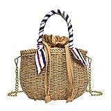 Round straw messenger bag ladies vintage handmade handbag circle rattan bag boehmian beach,A1