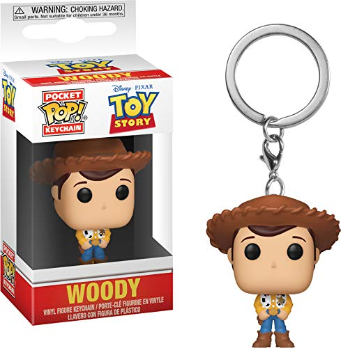 Funko- Pocket Pop Keychain: Toy Story: Woody Llavero de Bolsillo, Multicolor, Talla única (37018)