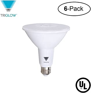 TriGlow T97019-6 (6-Pack) 15-Watt (100W Equivalent) PAR38 LED Bulb, 1050 Lumen, DIMMABLE, Daylight Color (5000K), UL Listed, Pack of 6 LED Light Bulbs