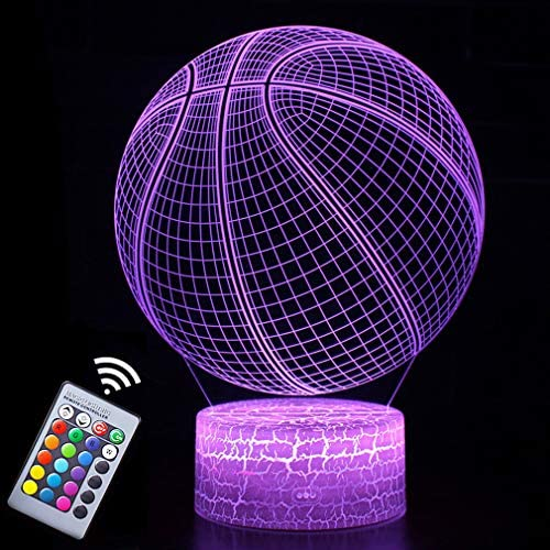Basketball Night Light 3D Illusion Effect Lamp Light Remote Control RGB Colors Dimmable Bday product image