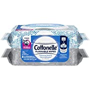 Cottonelle Flushable Wet Wipes for Adults, 2 Flip-Top Packs, 42 Wipes per Pack (84 Wipes Total)