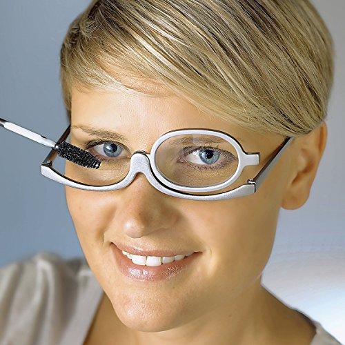 TRI Schmink-Brille, Schminkhilfe, Kosmetikzubehör, Schminke, Augen, Wimper, Wimpernbrille, Makeuphilfe, Seniorenhilfe, klappbares Brillenglas