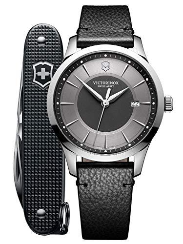 Victorinox Hombre Alliance - Reloj de Acero Inoxidable de Cuarzo analógico de fabricación Suiza + Pioneer Alox Swiss Army Tool 241804.1