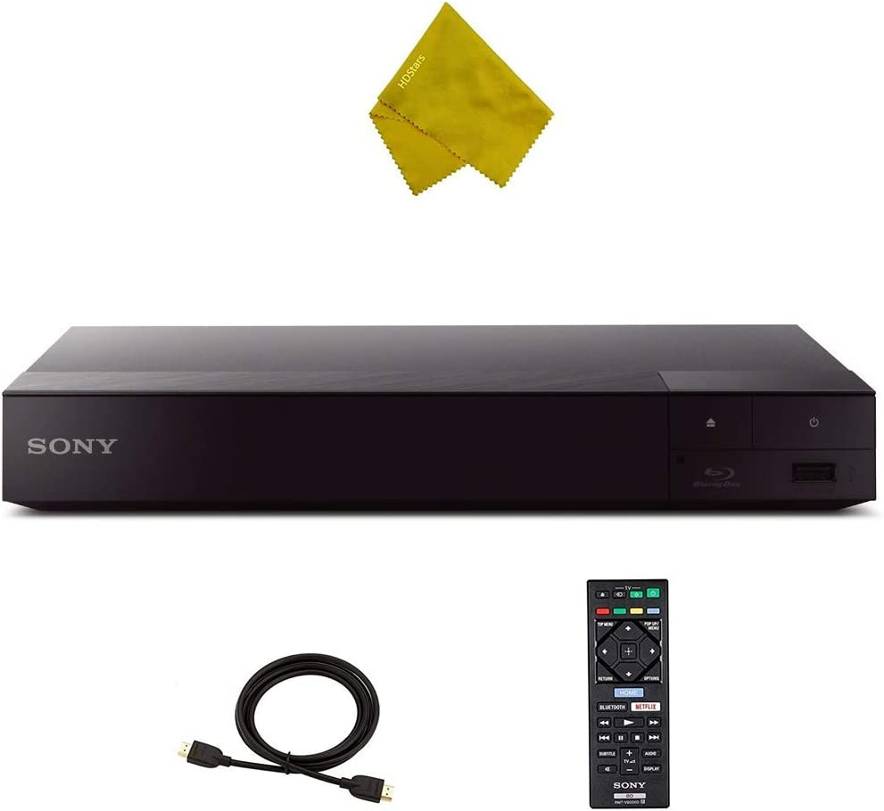 BDP-S6700 4K Upscaling 3D Streaming Blu-Ray Disc Player with Built-in Wi-Fi + HDStars HDMI 6 ft Cable + Fiber Cloth - BDPS6700