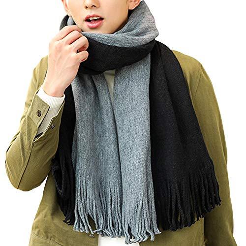 Sjaals mannen vrouwen, kleurrijke bijpassende wilde Koreaanse sjaal van gebreide wolkwast lang ein · ·