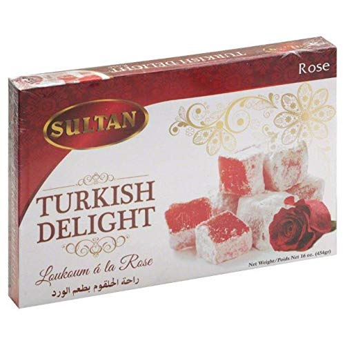 Sultan Turkish Delight - Rose Flavor 1 lbs box (Turkey)