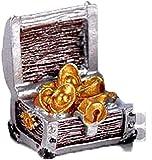 JONJUMP Acuario paisajismo Mini caja del tesoro de pecera ornamentos pequeños fondos marinos decoración adornos acuario accesorios