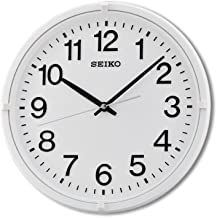 Seiko Plastic Wall Clock (White)