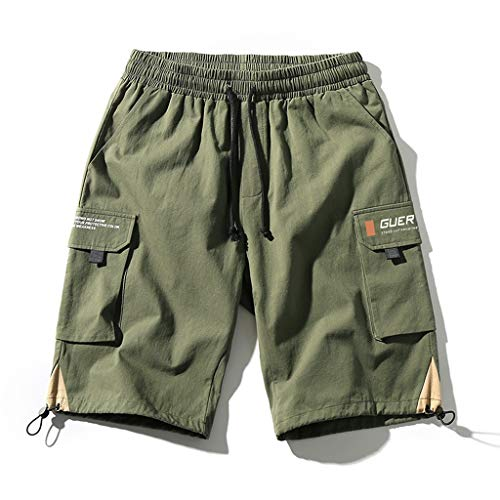 Casual Green Outdoor Shorts Summer Shorts ademend comfort Shorts Loose Fit Shorts Black/Army Shorts Heren Comfortabel (Color : ArmyGreen, Size : XXXL)