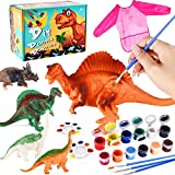 Kids Arts and Crafts Set Painting Kit - Dinosaurs Toys Art and Craft Supplies Party Favors for Boys Girls Age Over 5 Years Old Kid Creativity DIY Gift Easter Paint Your Own Dinosaur Animal Set
