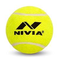Nivia ヘビーテニスボール クリケットボール (6個パック) イエロー
