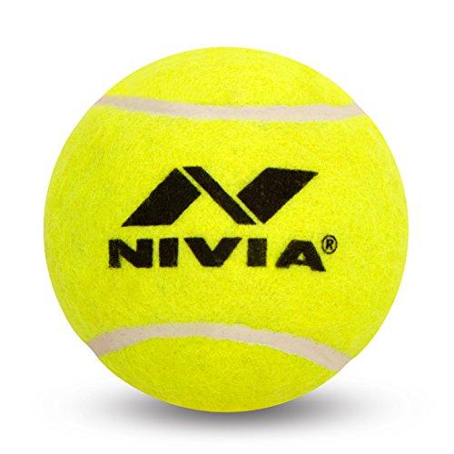 Nivia Heavy Tennis Ball Cricket Ball (Pack of 6), Yellow